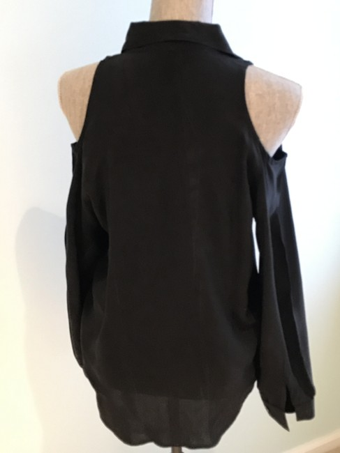 Other Cold-shoulder Tops Cold-shoulders Small Button Down Shirt Black Image 4