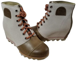 Sorel Canvas Upper Waterproof Microfiber Lining Synthetic Topcover Style# Ll5214-160 Brown/Base Canvas Boots