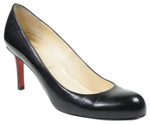 Christian Louboutin Simple 37 Round Toe Black Pumps