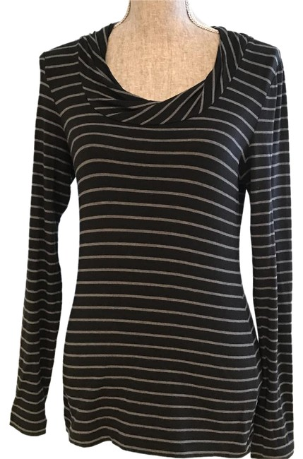 Banana Republic Tops Tops Size Small Tops Tees Top Black and Gray Stripe Image 0