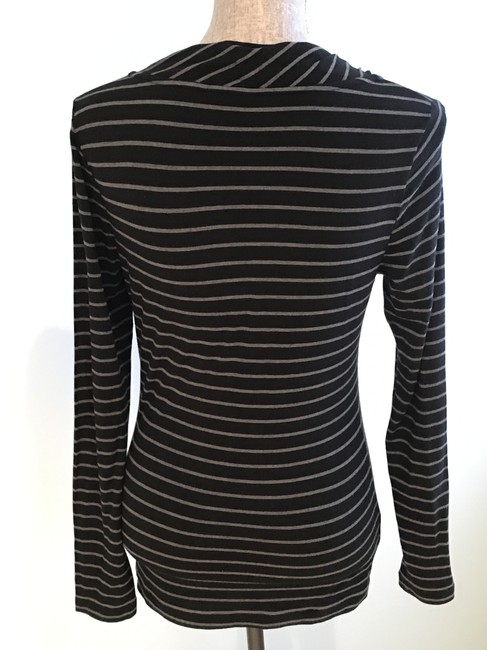 Banana Republic Tops Tops Size Small Tops Tees Top Black and Gray Stripe Image 3