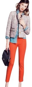 J.Crew Cropped City Fit Stretch Capri/Cropped Pants Red