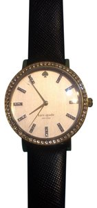 Kate Spade black and gold face with leather band