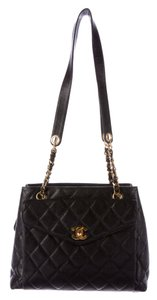 Chanel Timeless Grand Shopping Gst Flap Tote in Black