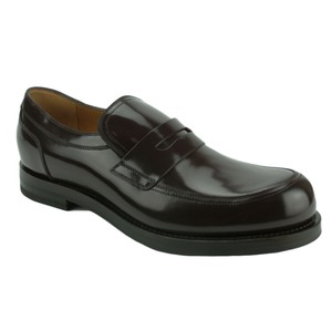 Gucci 386541 Loafer Patent Leather Loafer Brown Flats