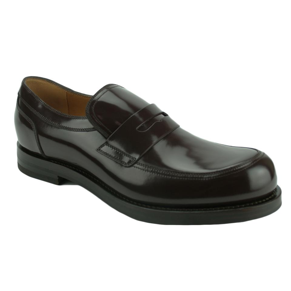 d2141421927 Gucci Brown 386541 Men s Patent Leather Loafer 7.5 Flats Size US 8.5 ...
