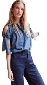 Anthropologie Button Down Shirt blue, chambray