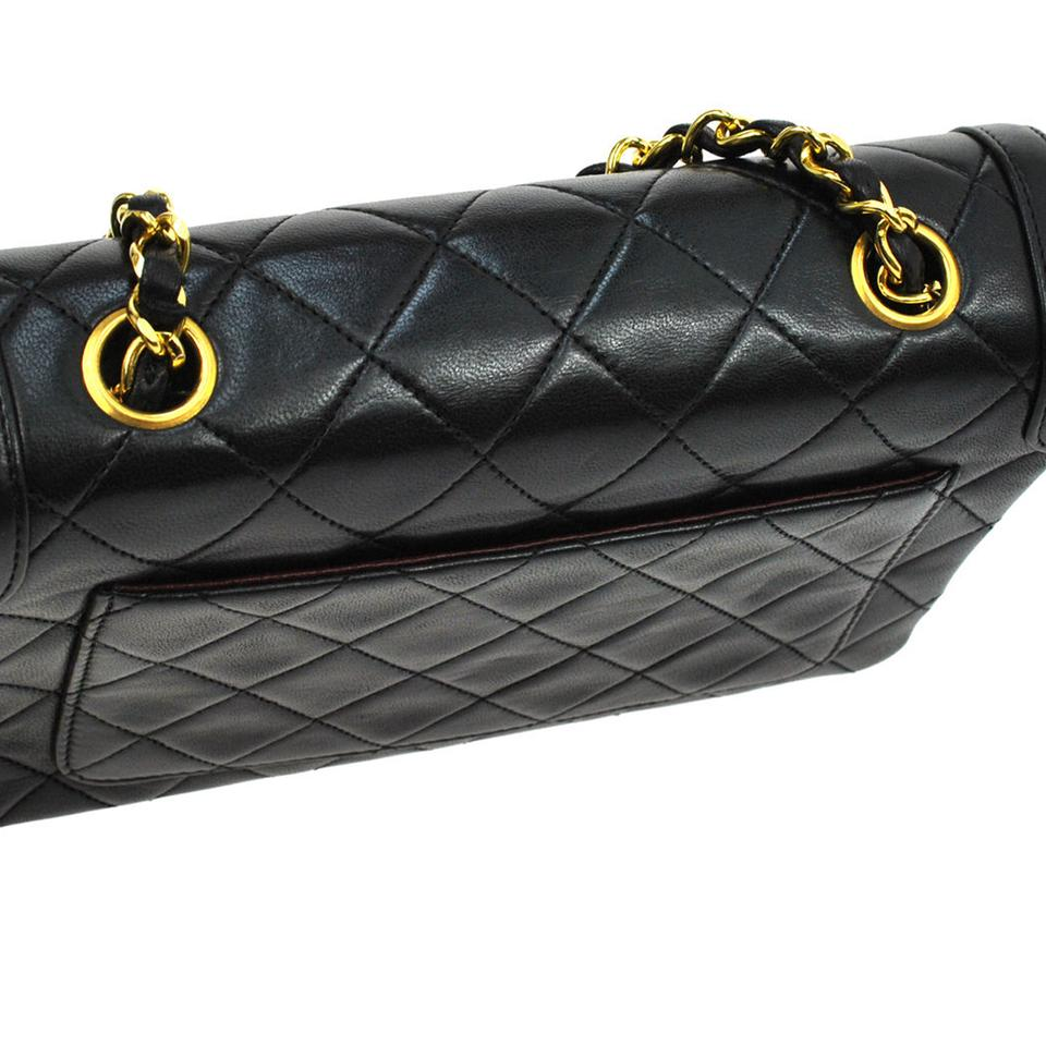 aa8d93f680af Chanel Noir Cc Quilted Gold Single Chain Lambskin Purse Black Leather  Shoulder Bag - Tradesy