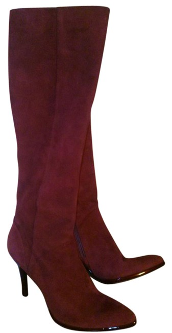 Item - Oxblood Red Fabulous Made In Italy Suede Tall Boots/Booties Size US 11 Regular (M, B)