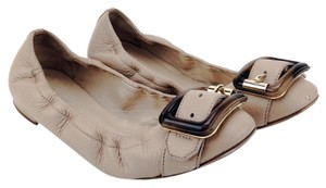 Burberry Ballerina Buckle Leather Knot Keswick Nude Flats