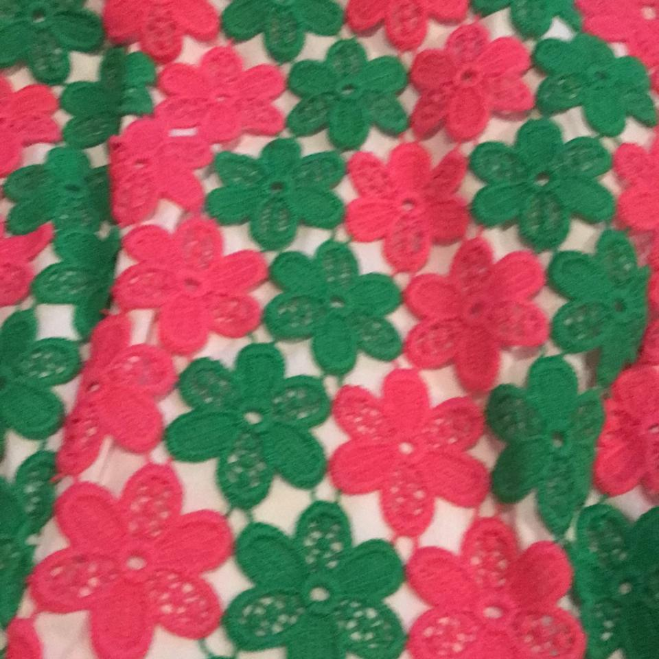 Lilly Pulitzer New Green/Pink Barbara Two Tone Truly Petal Lace ...