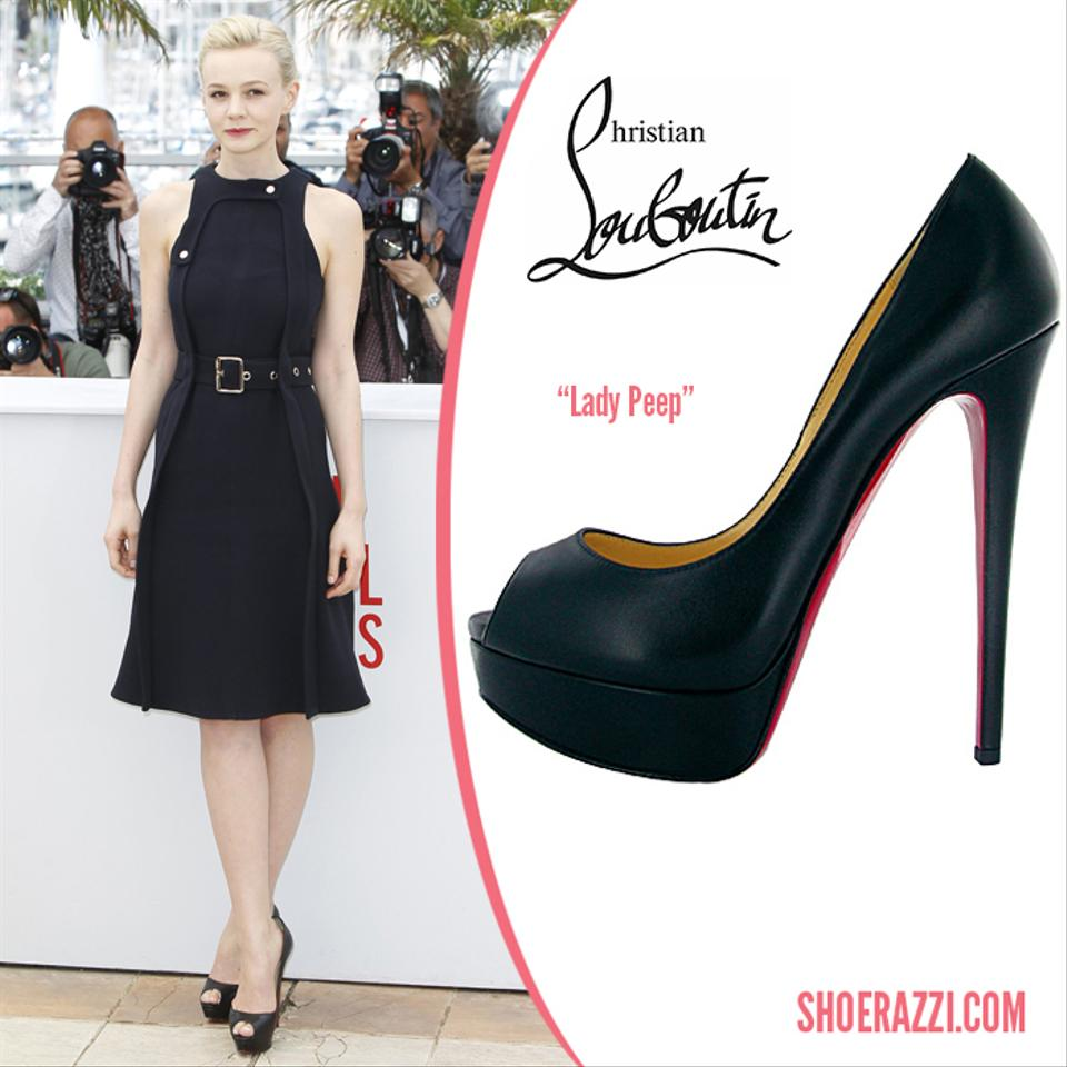 get cheap 2d379 d0fbe Christian Louboutin Lady Peep Black Patent Leather 40.5 Pumps Size US 9.5  Regular (M, B) 52% off retail