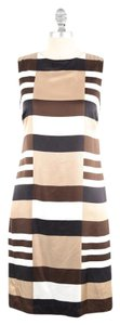 Tory Burch short dress Brown Geometric Mini Mod Silk on Tradesy