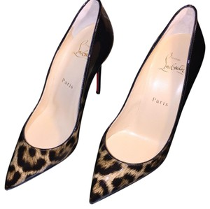 Christian Louboutin Leopard/Black Pumps