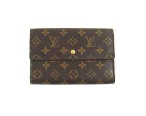 Louis Vuitton Monogram Canvas Leather Continental Clutch Trifold Wallet