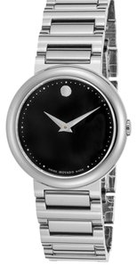 Movado Movado Women's Concerto Stainless Steel Black Dial Stainless Steel