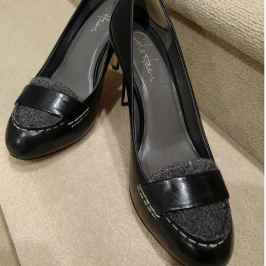 Cole Haan Black and grey flannel Pumps Image 2