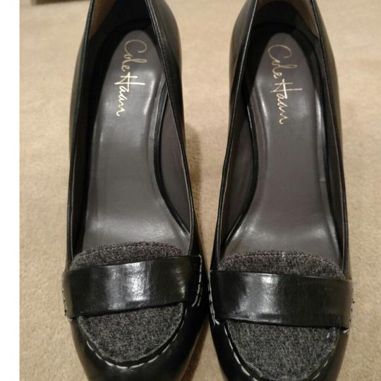 Cole Haan Black and grey flannel Pumps Image 7
