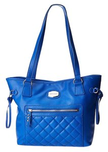 Franco Sarto Quilted Large Tote in Conalt