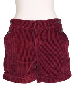Anthropologie Daughters Liberation Corduroy Dress Shorts Maroon