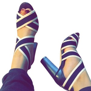 Ann Taylor blue and white Sandals