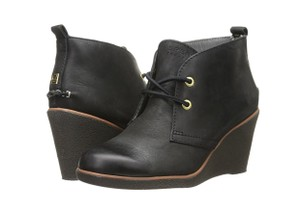 Sperry Wedge Leather Black Boots