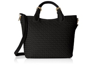 MG Collection Woven Tote Mg Tatiana Designer Classic Shoulder Bag
