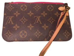 Louis Vuitton brown & rasberry Clutch