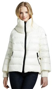 Moncler Parka Cigale Ribbed White Cream Jacket
