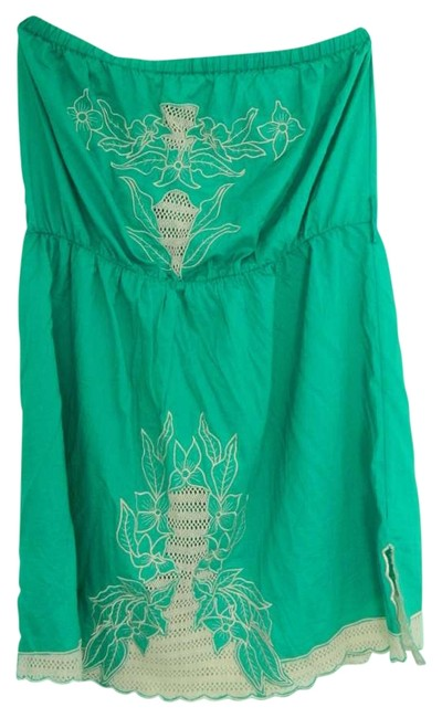 Preload https://item5.tradesy.com/images/forever-21-turquoisecream-above-knee-short-casual-dress-size-22-plus-2x-205509-0-0.jpg?width=400&height=650