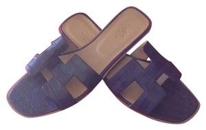 Herms AMETHYSTE ( DARK PURPLE ) Sandals