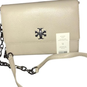 Tory burch mercer wallet on chain color French gray Cross Body Bag