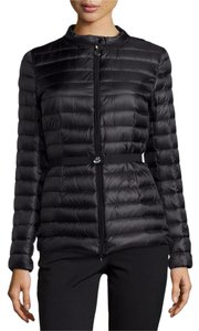 Moncler Parka Damas Belted Black Jacket
