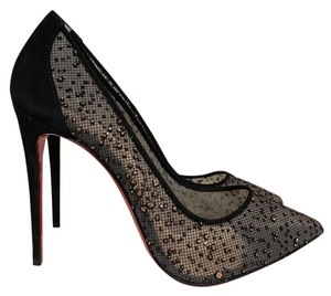 Christian Louboutin Follies Lace Mesh Pigalle black Pumps