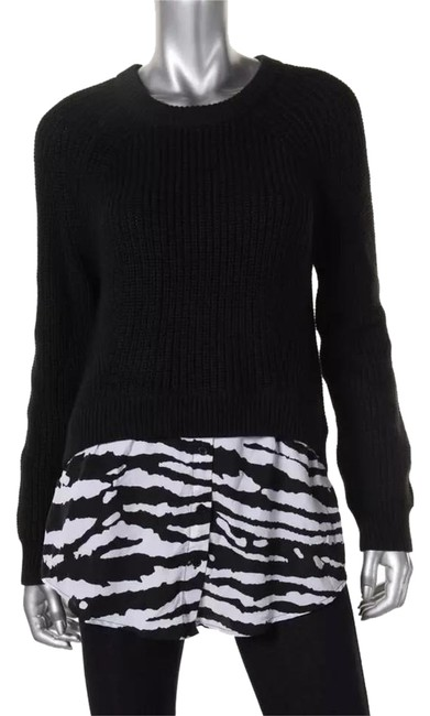 Preload https://img-static.tradesy.com/item/20551168/michael-kors-new-women-s-crew-tunic-knit-xs-black-sweater-0-2-650-650.jpg