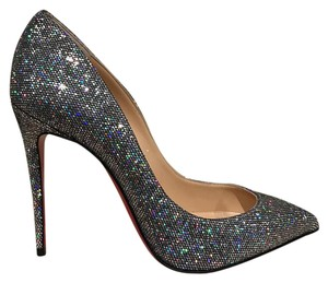 Christian Louboutin Pigalle Follies Stiletto Glitter silver Pumps