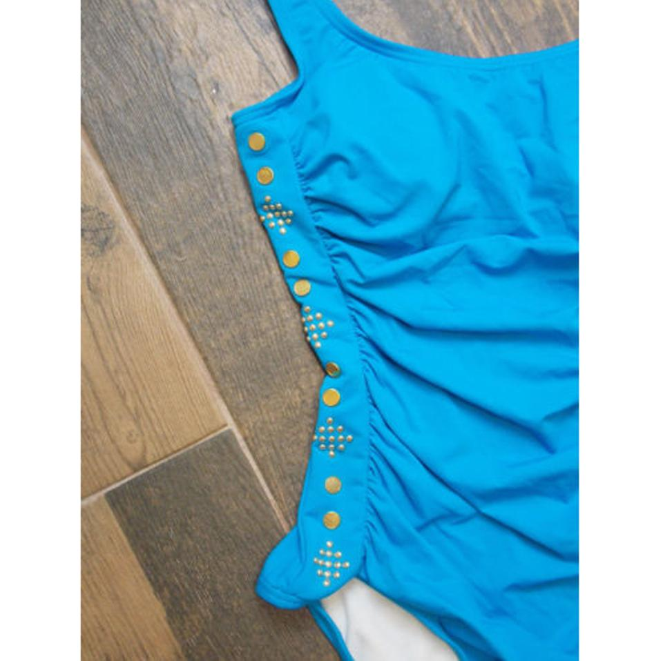 Michael Kors Blue Azure Maillot Swimsuit One Piece Bathing