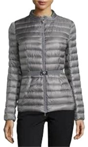 Moncler Parka Puffer Damas Belted Grey Jacket
