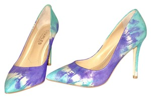 Charles by Charles David + BCBG Color Sexy Style Sold Out Brand New Leather Ocean Tye Die Pumps