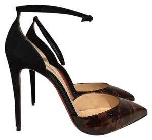 Christian Louboutin Uptown Stiletto Patent Suede black Pumps