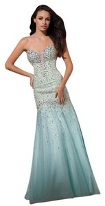 Tony Bowls Strapless Prom Evening Beaded Gown Dress