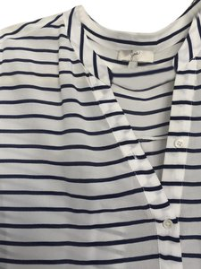 Joie Top white with blue stripes