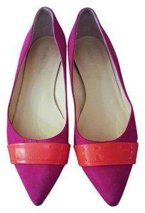 Ivanka Trump Classic Suede Patent Leather Purple Flats