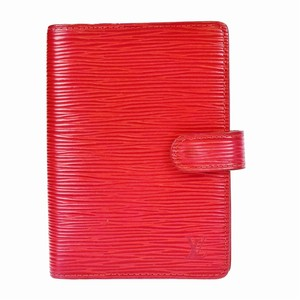 Louis Vuitton Louis Vuitton Epi Leather Agenda in Red