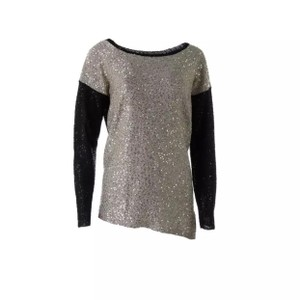 DKNY Black Gold Sequined Sweater