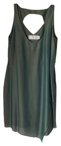 Shipley and Halmos Metallic Keyhole Dress