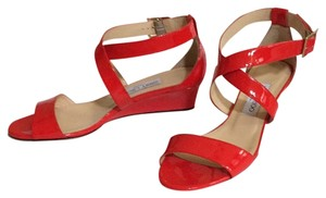 Jimmy Choo Red (Flame) Wedges