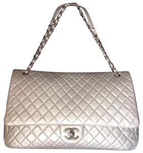 Chanel SILVER GRAY Travel Bag