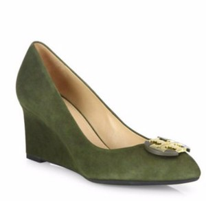 Tory Burch forest moss Wedges