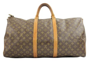 Louis Vuitton Keepall 55 Bandouliere Duffle monogram Travel Bag